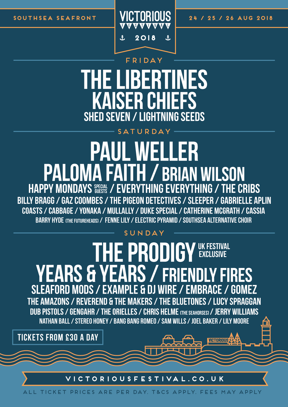 Victorious Festival line up
