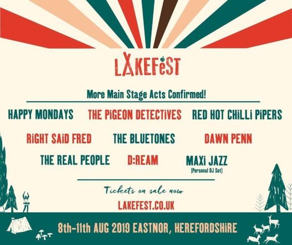 Lakefest 2019 Line Up Poster