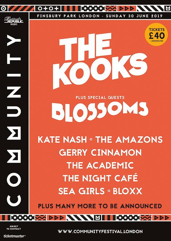 The Kooks to headline Community Festival 2019