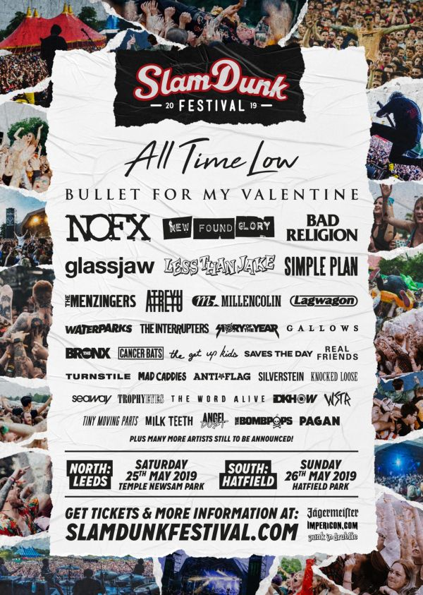 Slam Dunk Festival South 2019 Line Up