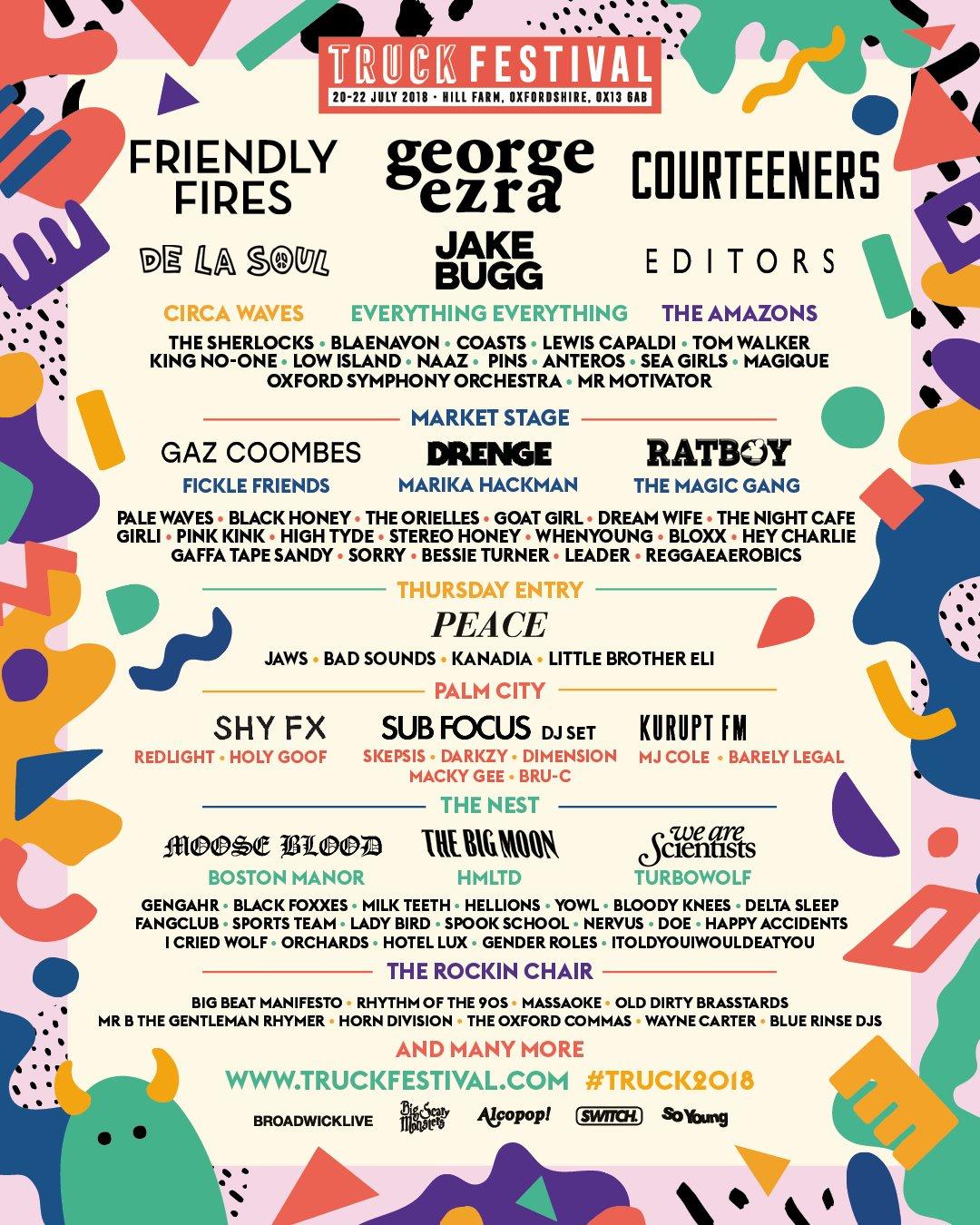 Truck Festival 2018 line up
