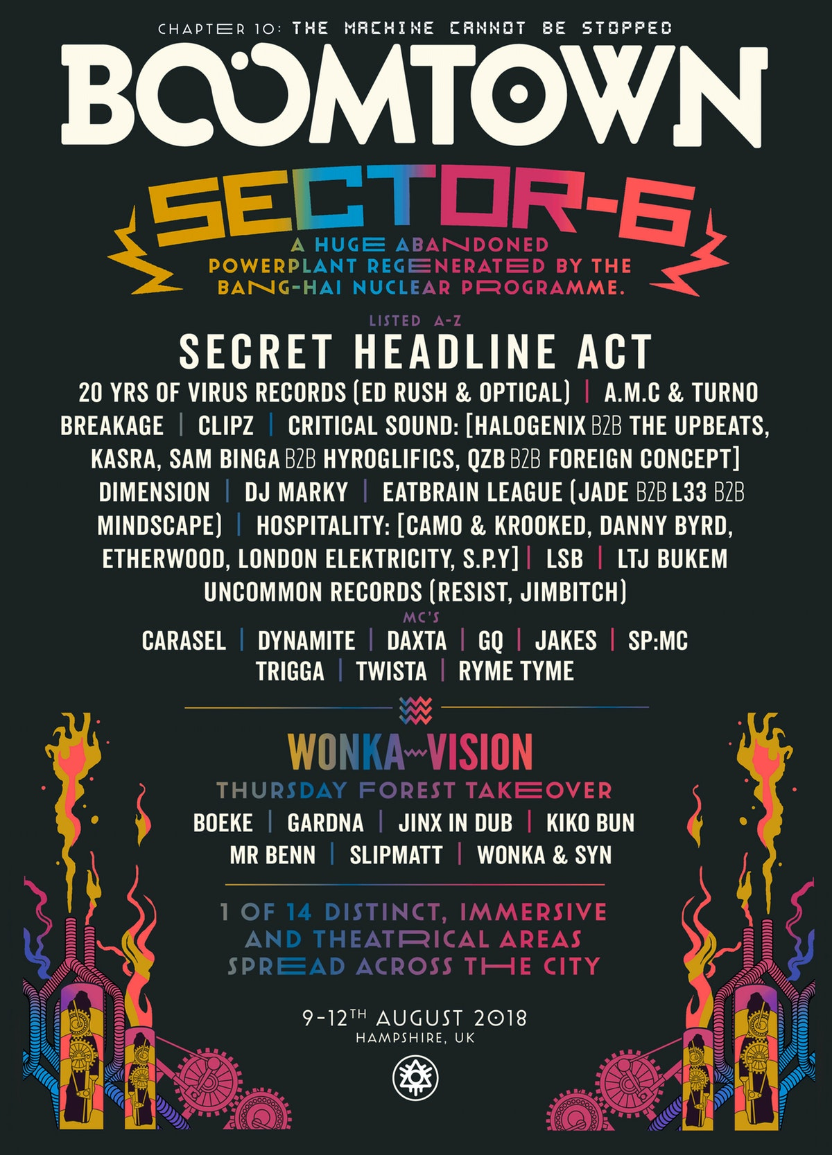 BoomTown 2018 Sector 6 line up