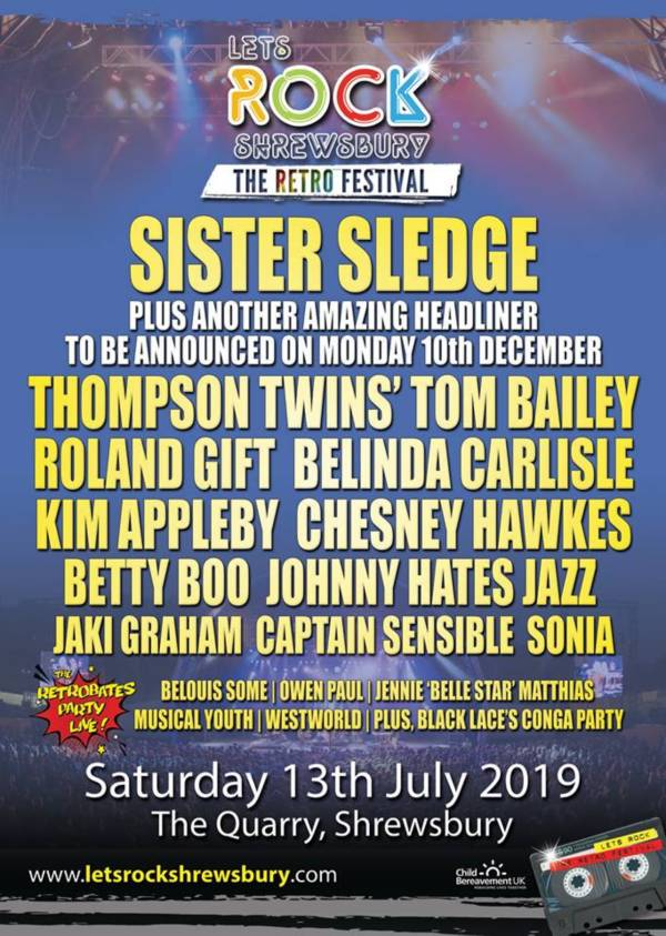 Lets Rock Shrewsbury 2019 Line Up Poster
