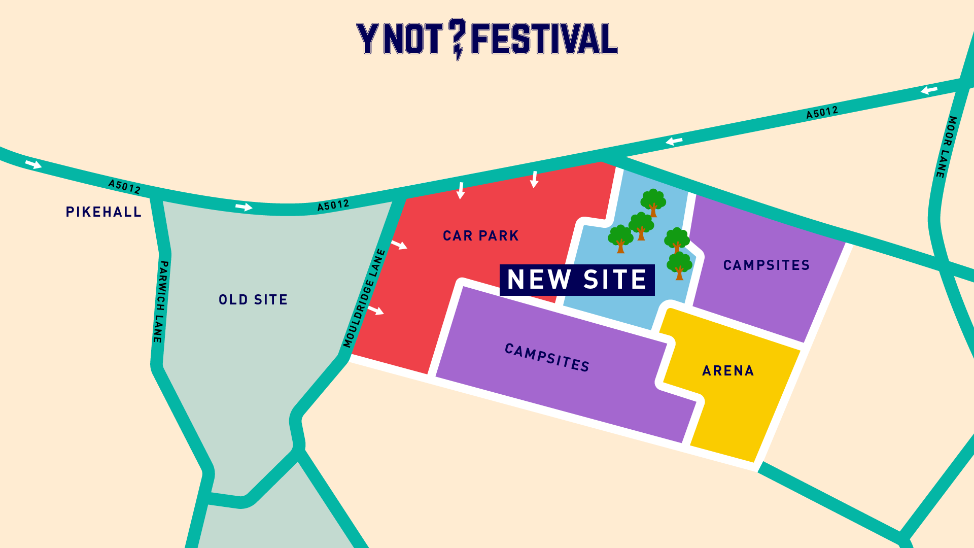 Y Not Festival 2018 Map