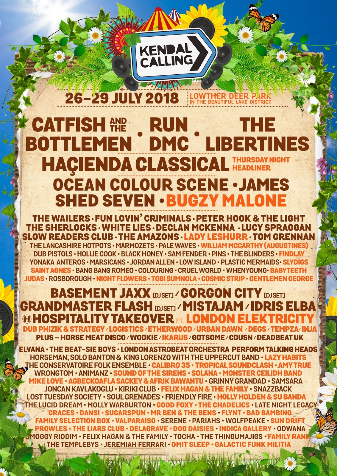 Kendal Calling 2018 Line Up