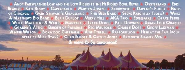 Shrewsbury Folk Festival 2019 Line Up