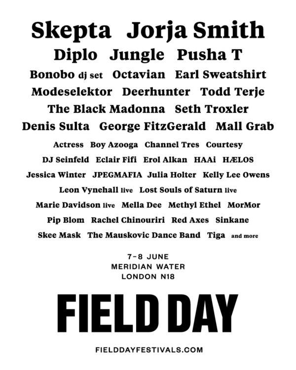 Field Day Line Up