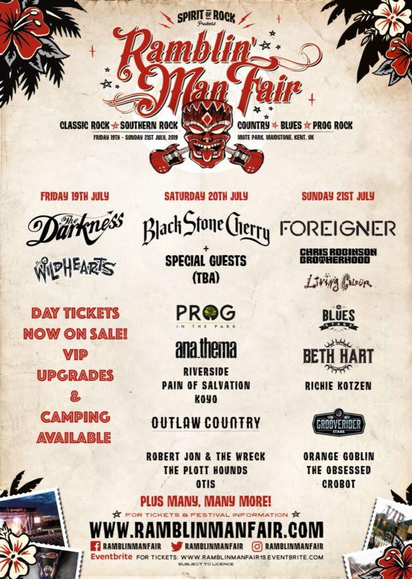 Ramblin' Man Fair 2019 Line Up Poster