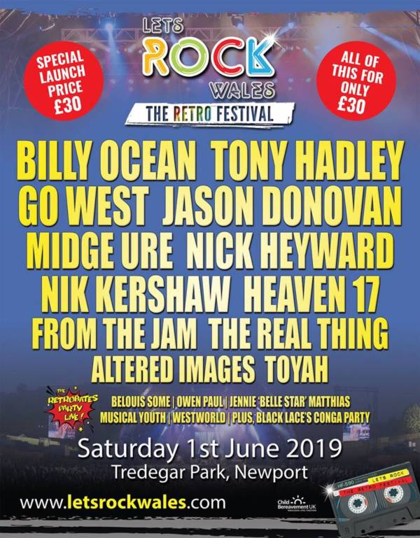 Lets Rock Wales 2019 Line Up Poster