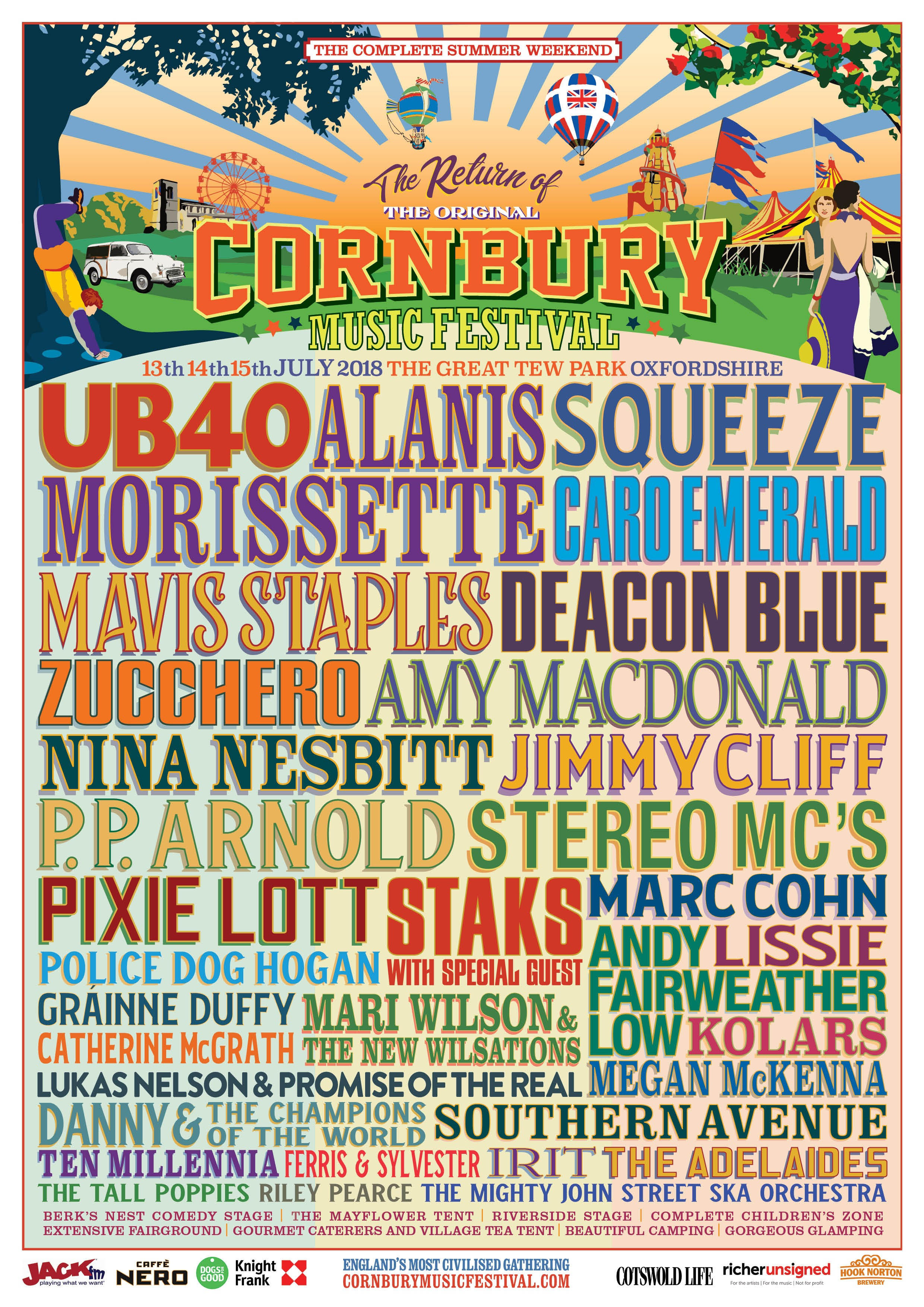 Cornbury Festival 2018 line up
