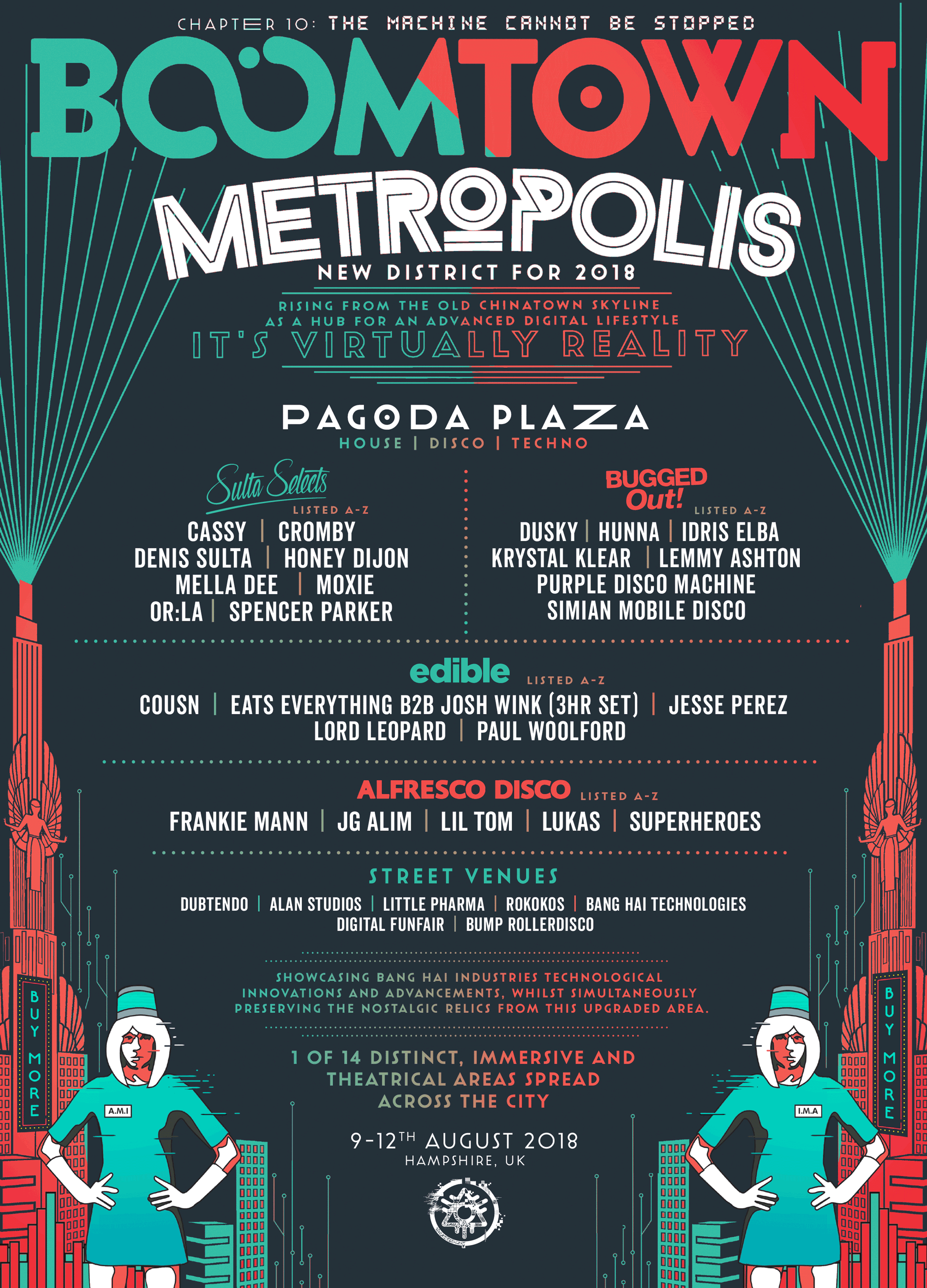 BoomTown - The Metropolis line up
