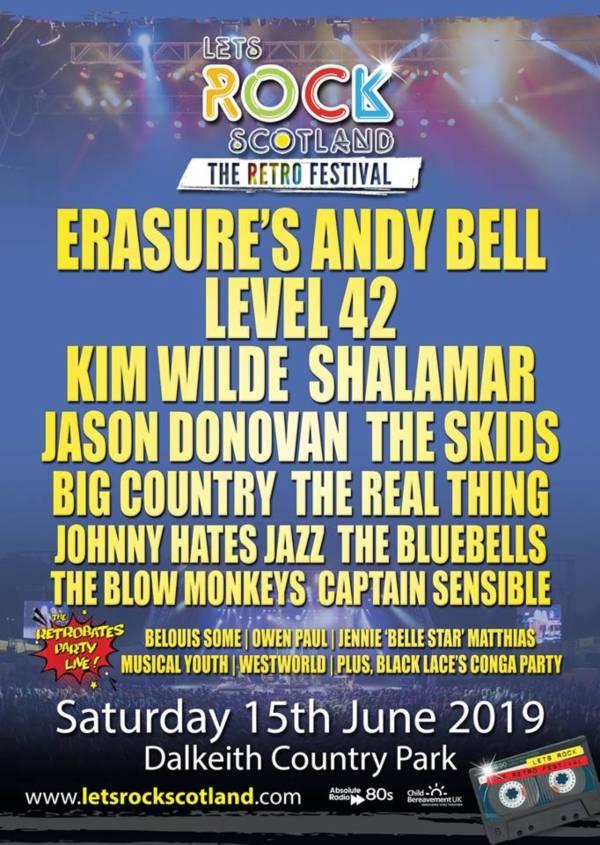 Lets Rock Scotland 2019 Line Up Poster