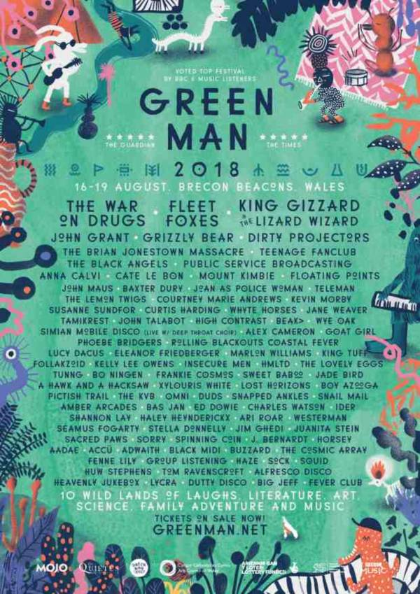 Green Man Festival 2018 Line Up