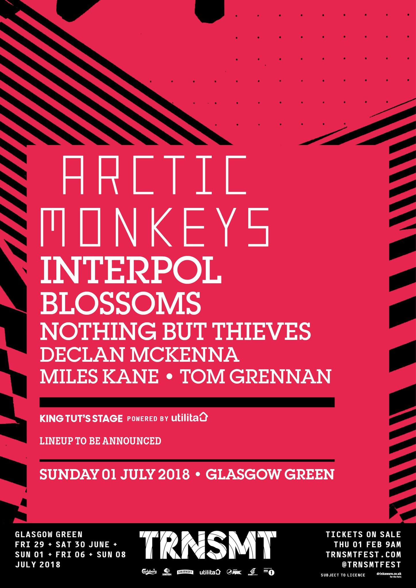 TRNSMT 2018 line up - Arctic Monkeys day