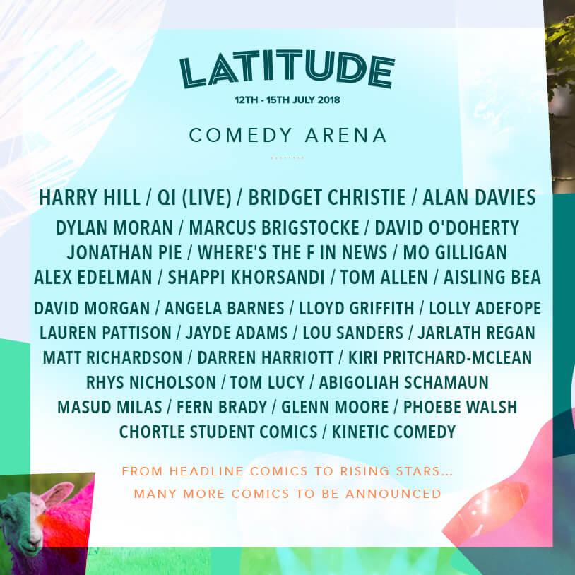 Latitude Festival 2018 - Comedy Arena line up