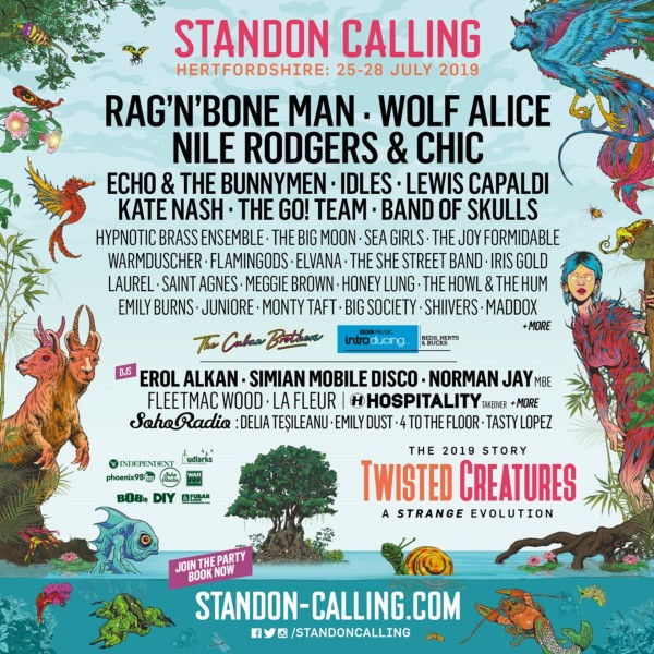 Standon Calling Line Up Poster