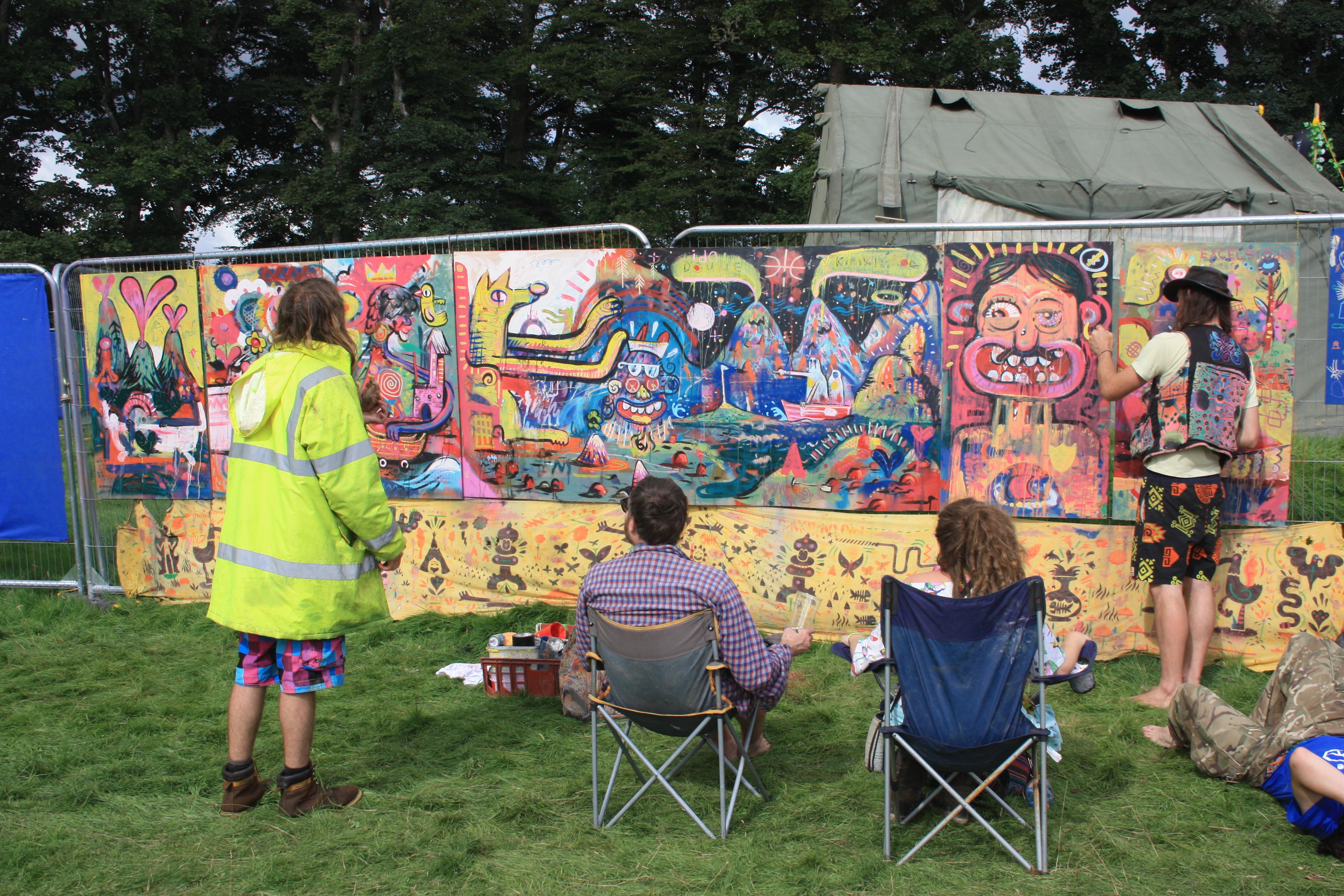 Doune The Rabbit Hole's Graffiti Wall
