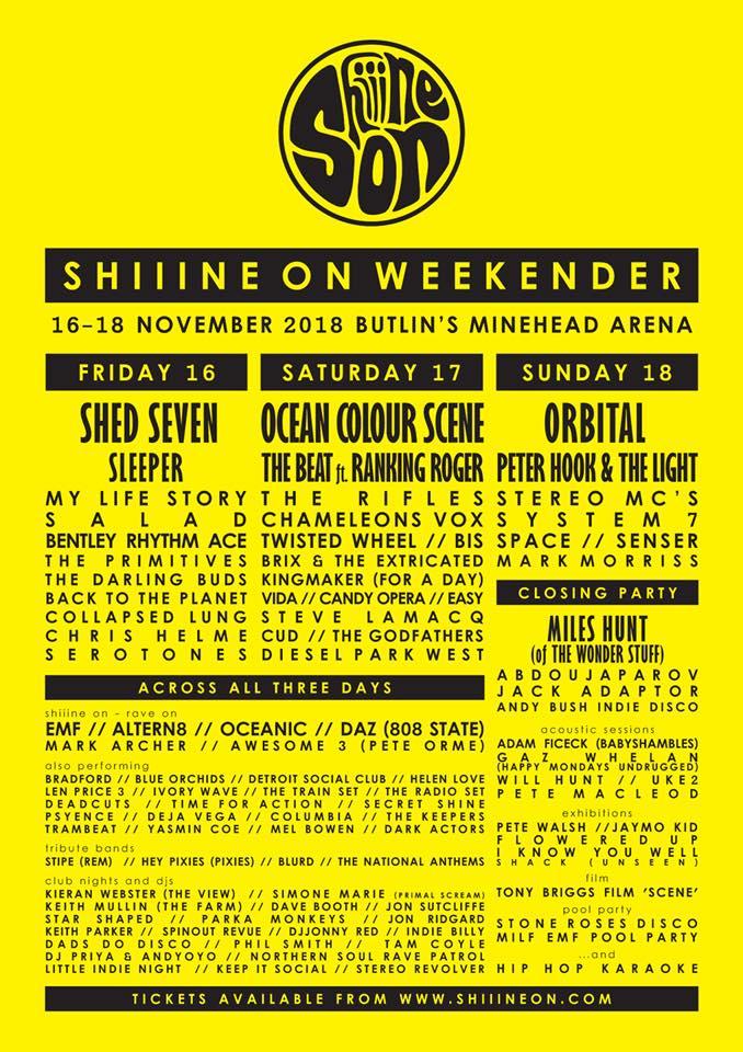 Shiiine On Weekender 2018 Preview
