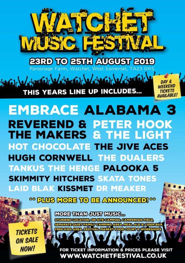 Watchet Music Festival 2019 Line Up Poster