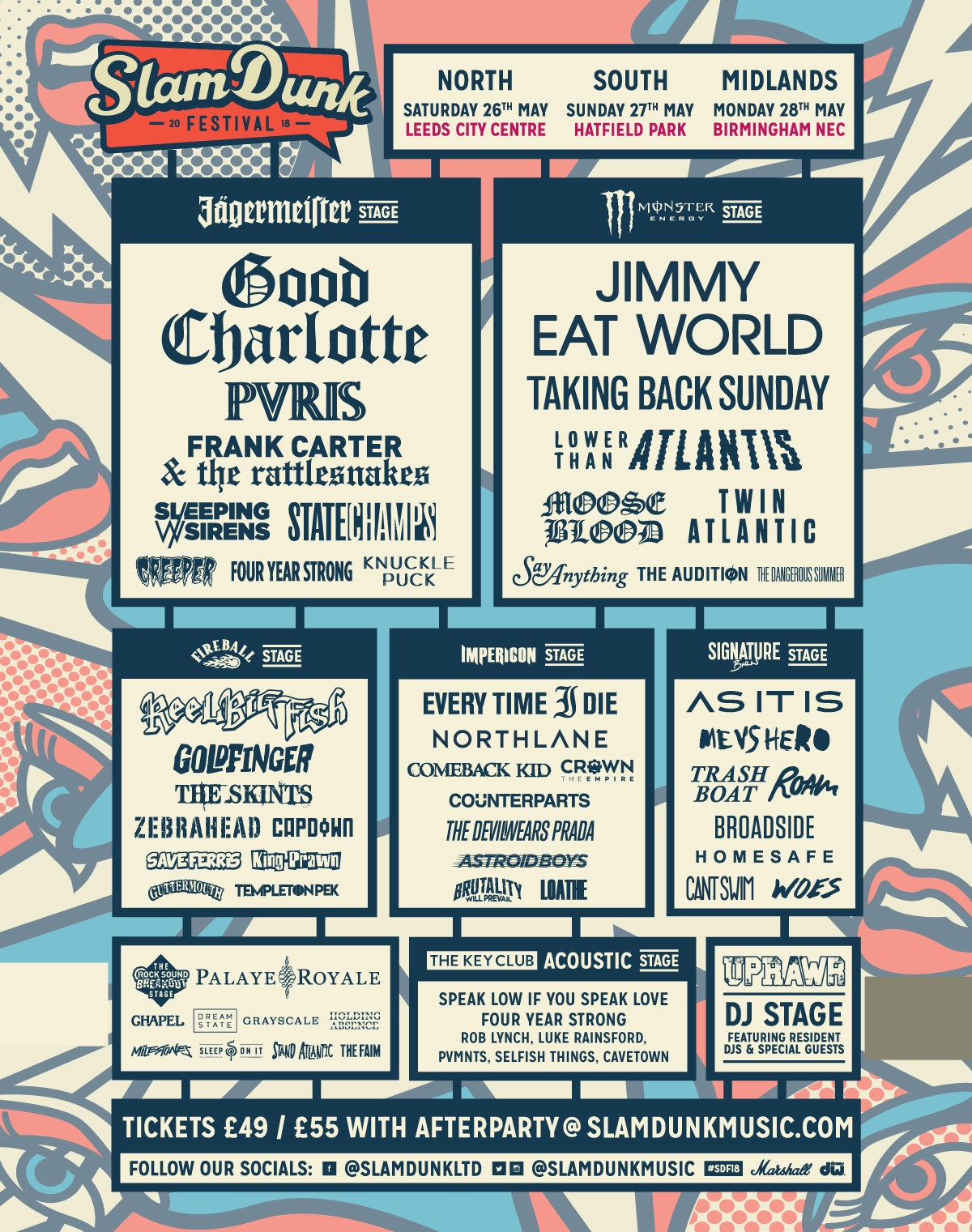 Slam Dunk Festival 2018 line up