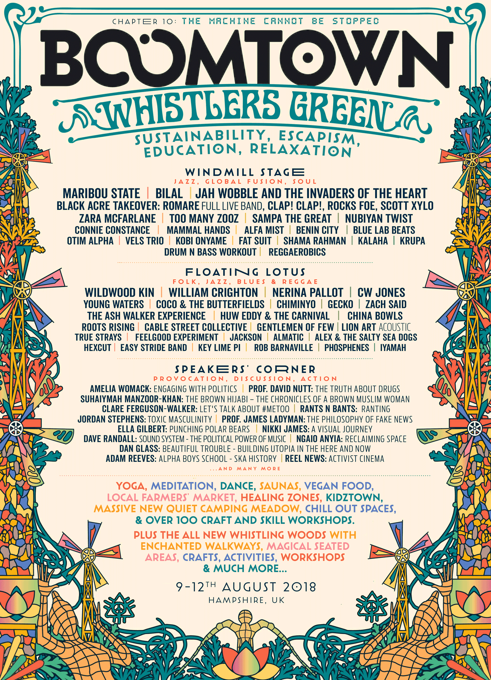 BoomTown 2018 Whistlers Green Line Up