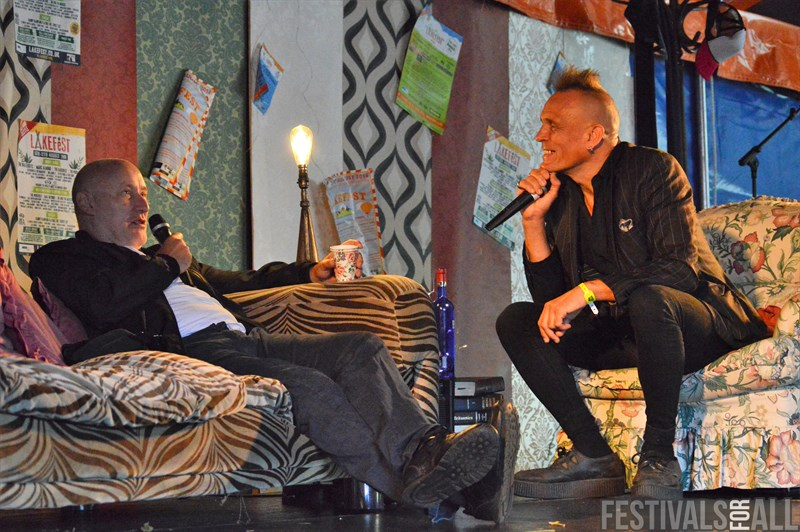 John Robb and Jah Wobble in conversation at Lakefest