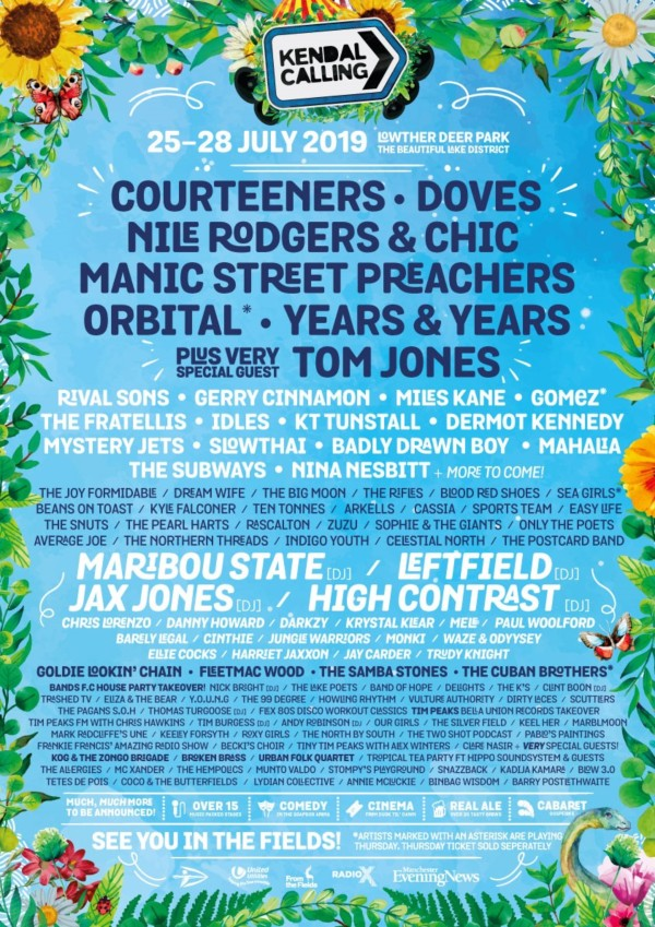 Kendal Calling 2019 Line Up Poster