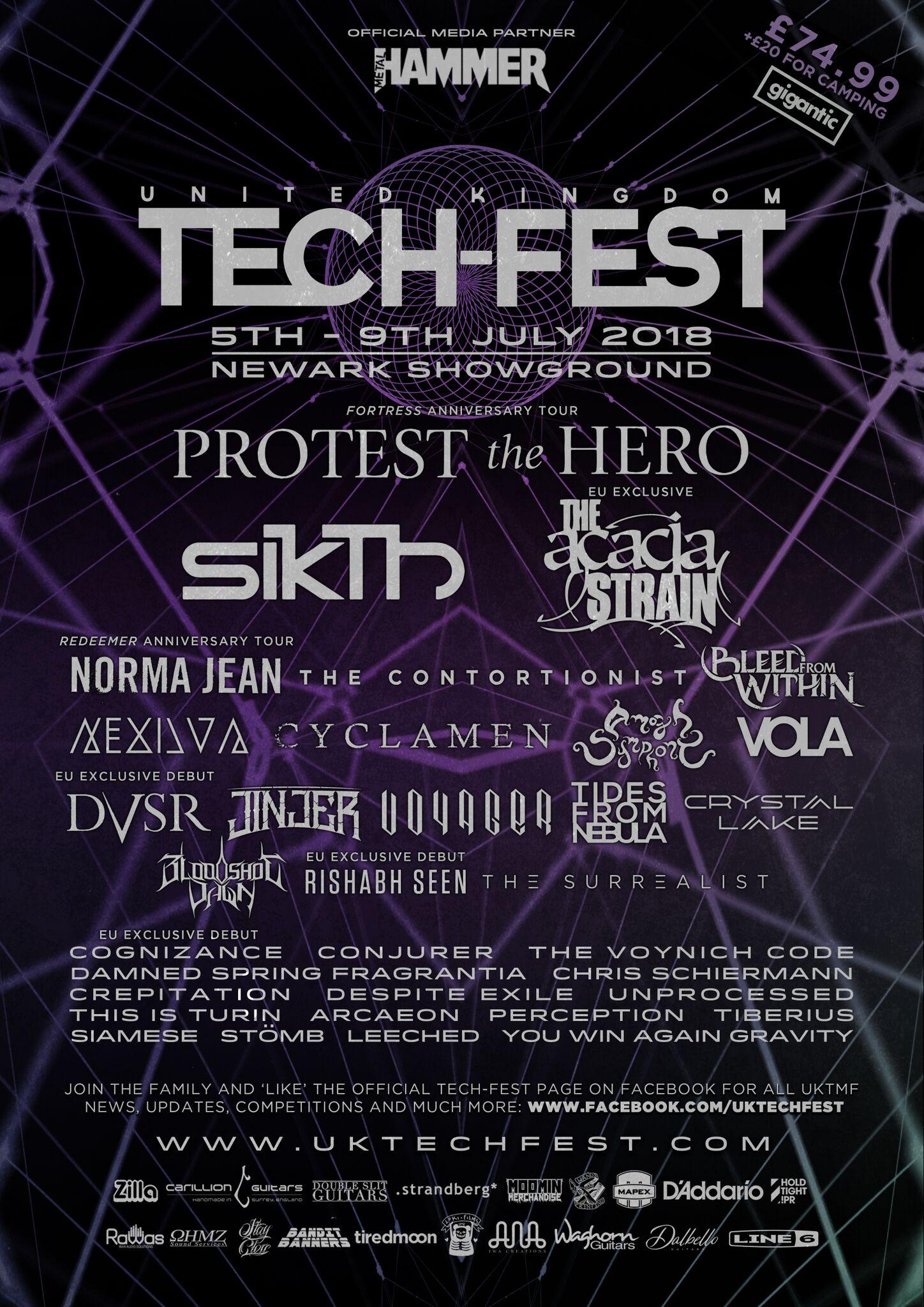 Tech Fest 2018 line up