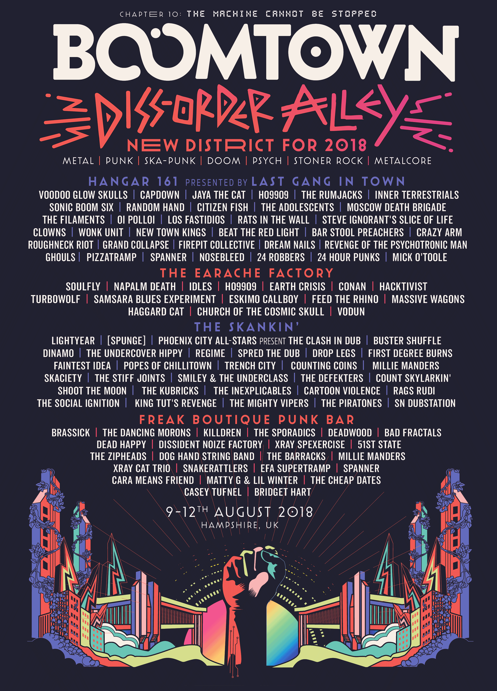 BoomTown Diss Order Alley line up