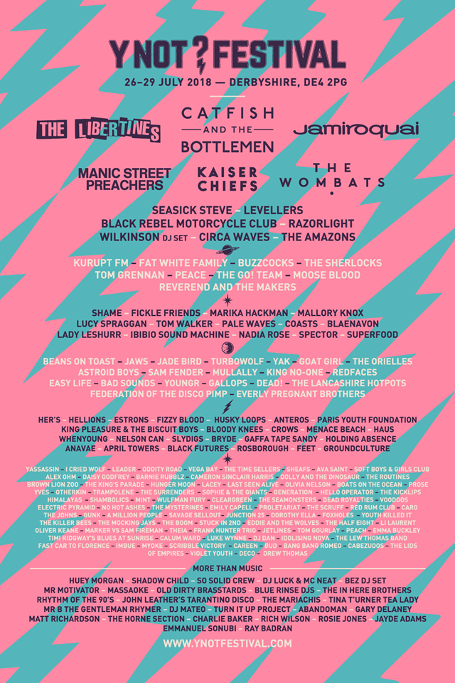 Y Not Festival 2018 Line Up