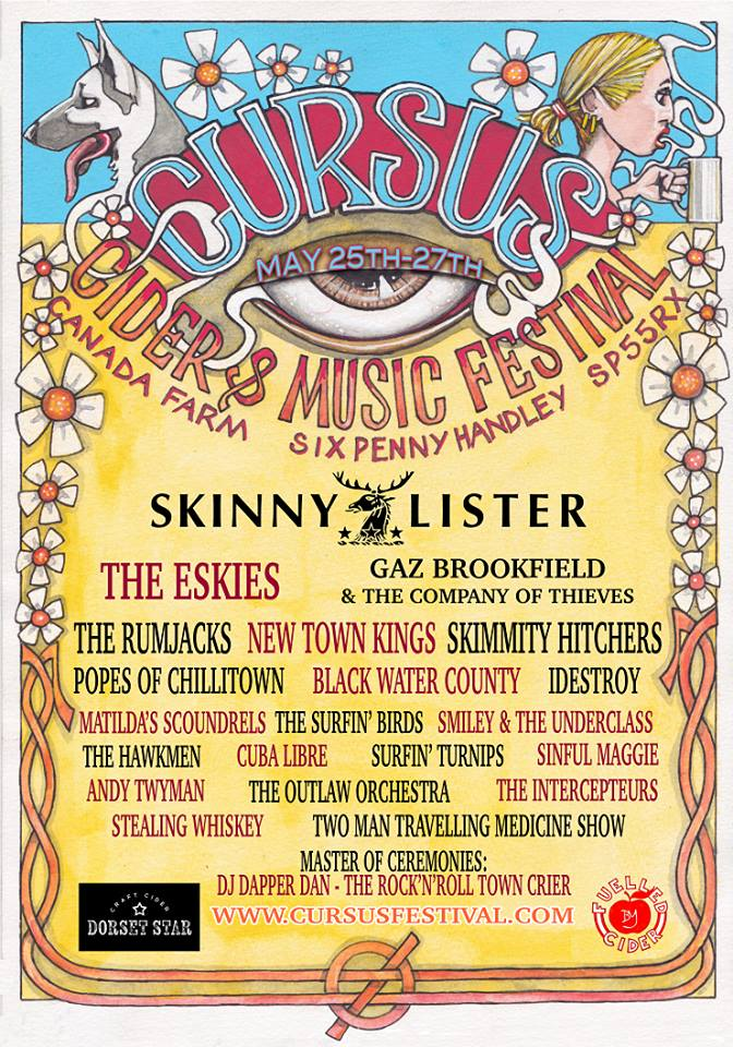 The Cursus Cider & Music Festival 2018 Line Up
