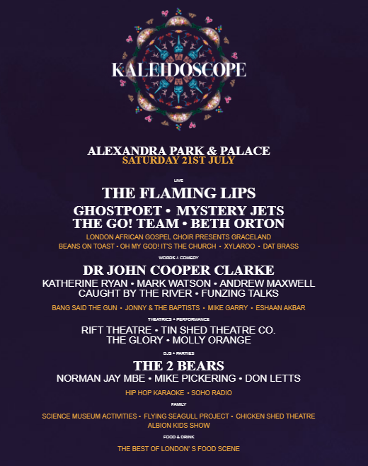 Kaleidoscope Festival Line Up