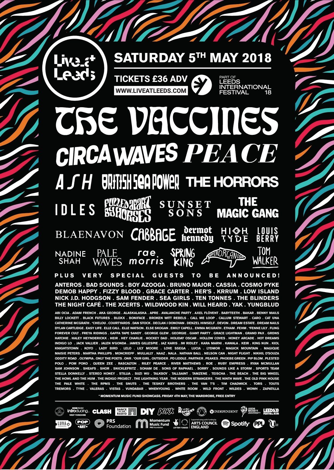 Live at Leeds 2018 Line Up