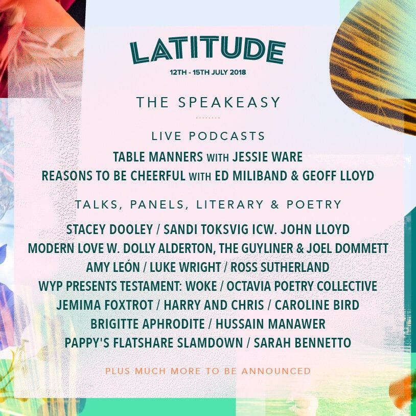 Latitude 2018 - The Speakeasy line up