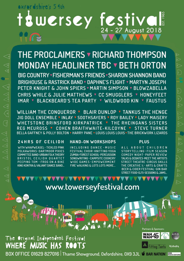 Towersey Festival 2018 line up
