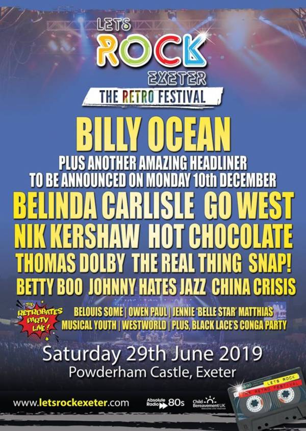 Lets Rock Exeter 2019 Line Up POster