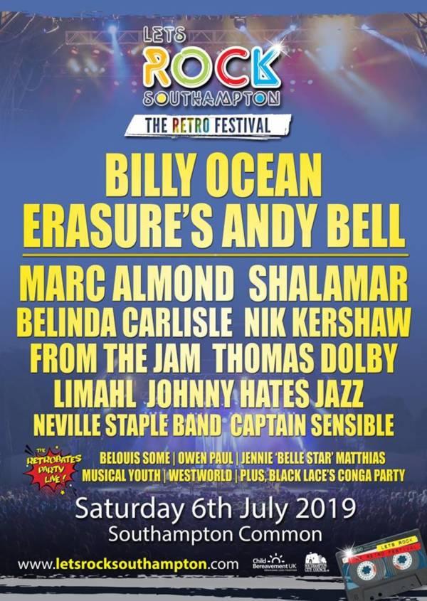 Lets Rock Southampton 2019 Line Up Poster