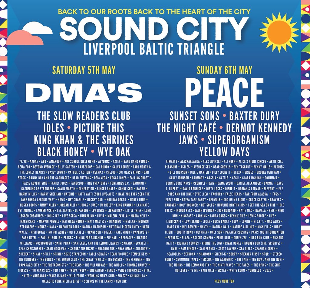 Sound City 2018 Line Up