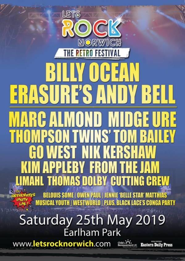 Lets Rock Norwich 2019 Line Up Poster
