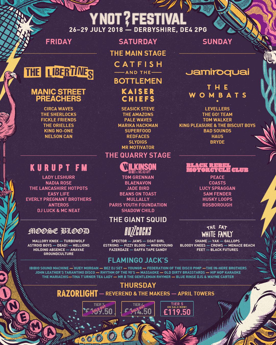 Y Not Festival Day Splits