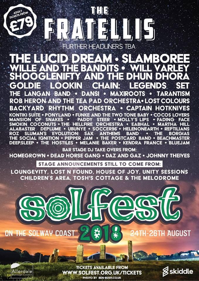 Solfest 2018 Line Up