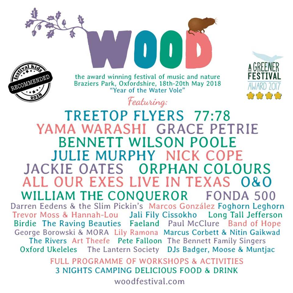 Wood Festival 2018 Line Up