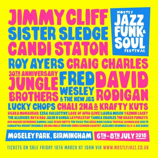 Mostly Jazz Funk & Soul Festival 2018 line up poster