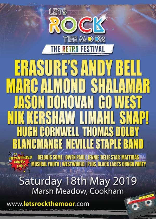Lets Rock The Moor 2019 Line Up Poster