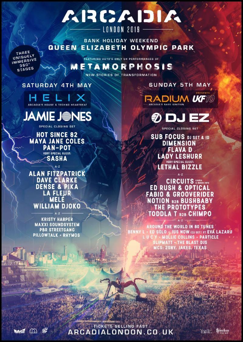Arcadia London 2019 line up