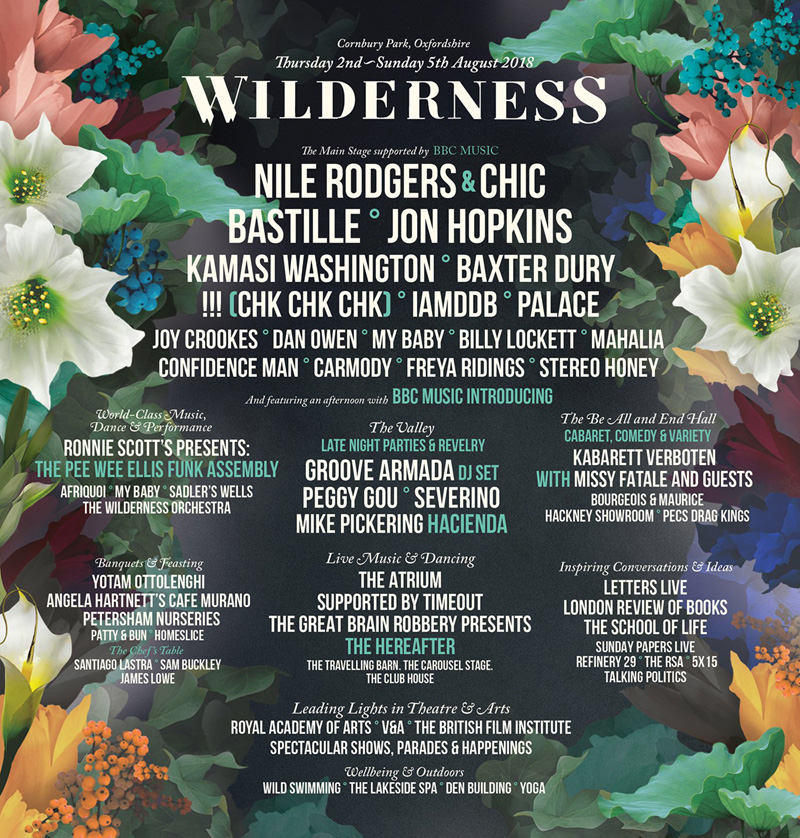 Wilderness 2018 Line Up