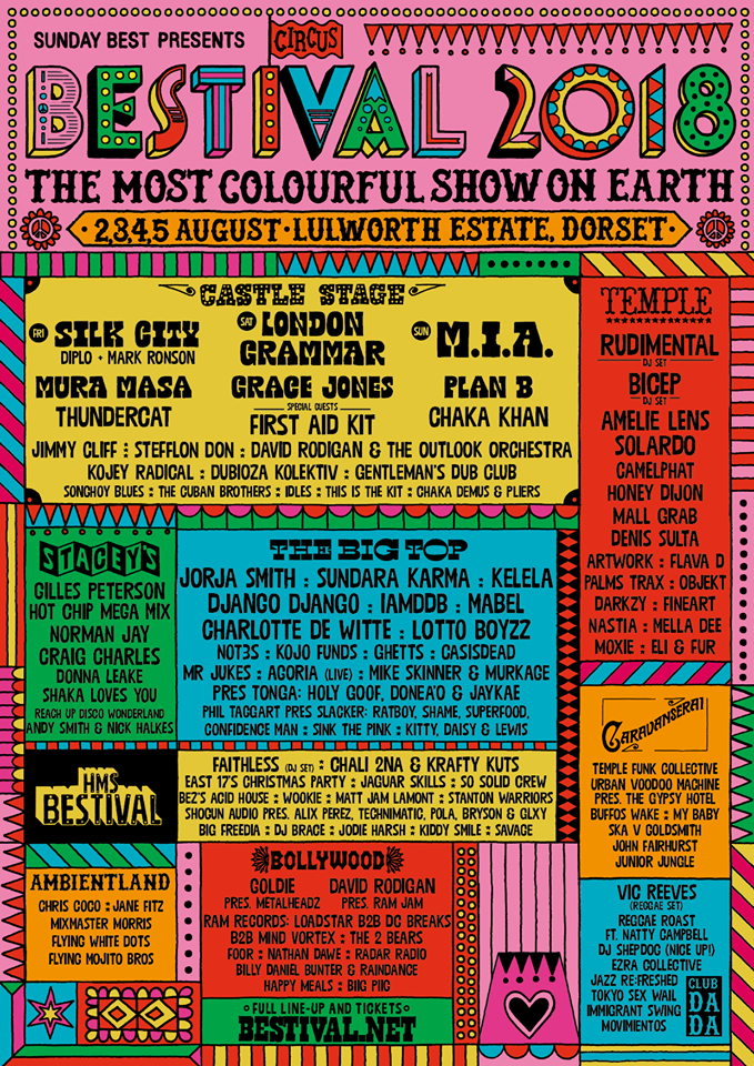 Bestival 2018 line up