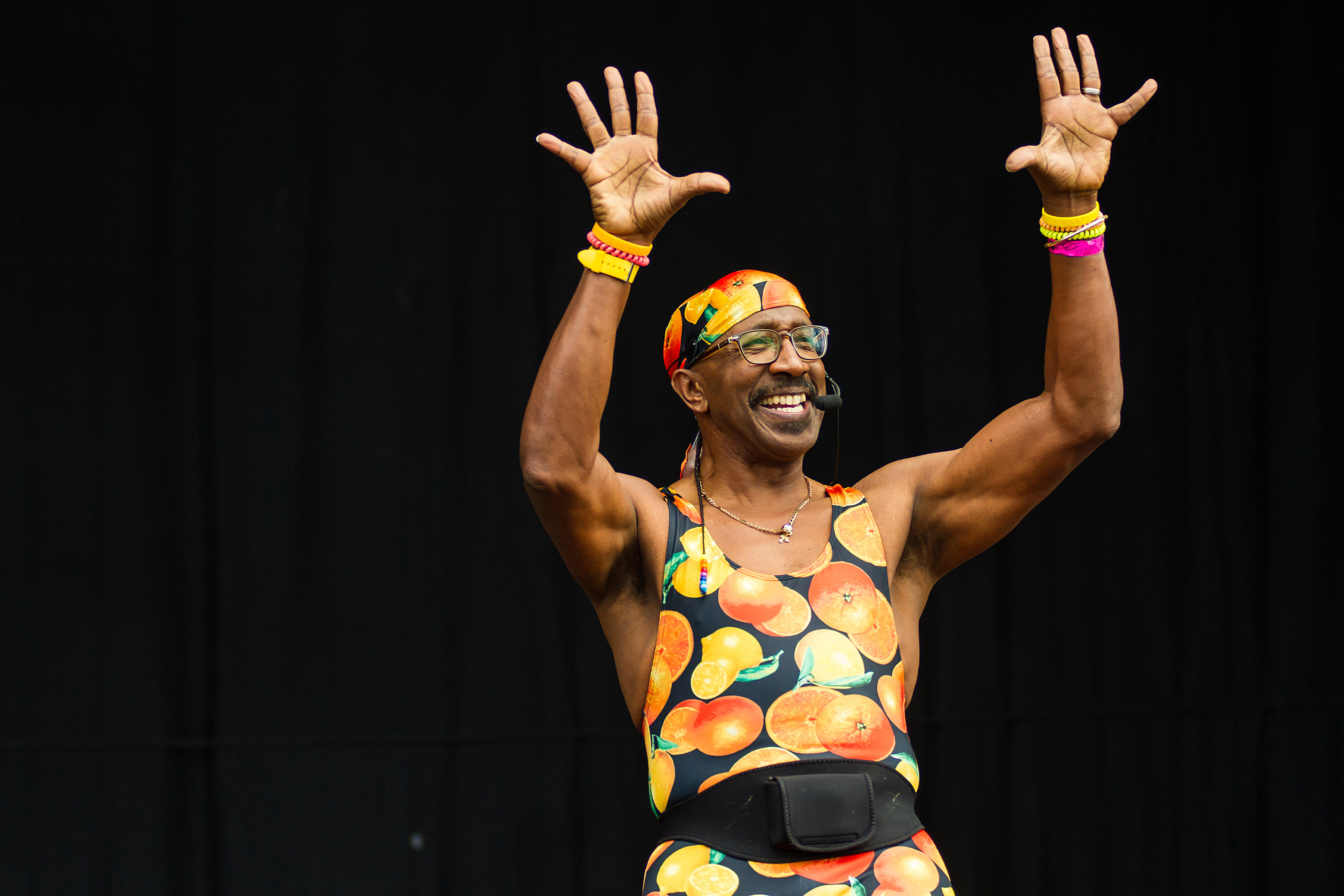 Mr Motivator on the Main Stage at Truck Festival 2017
